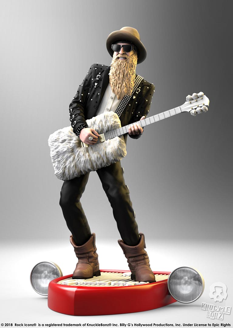 Billy F Gibbons Rock Iconz Statue Knucklebonz Inc