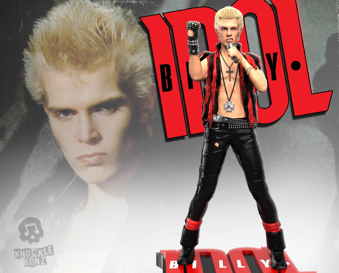 Billy Idol Rock Iconz Statue Knucklebonz Inc