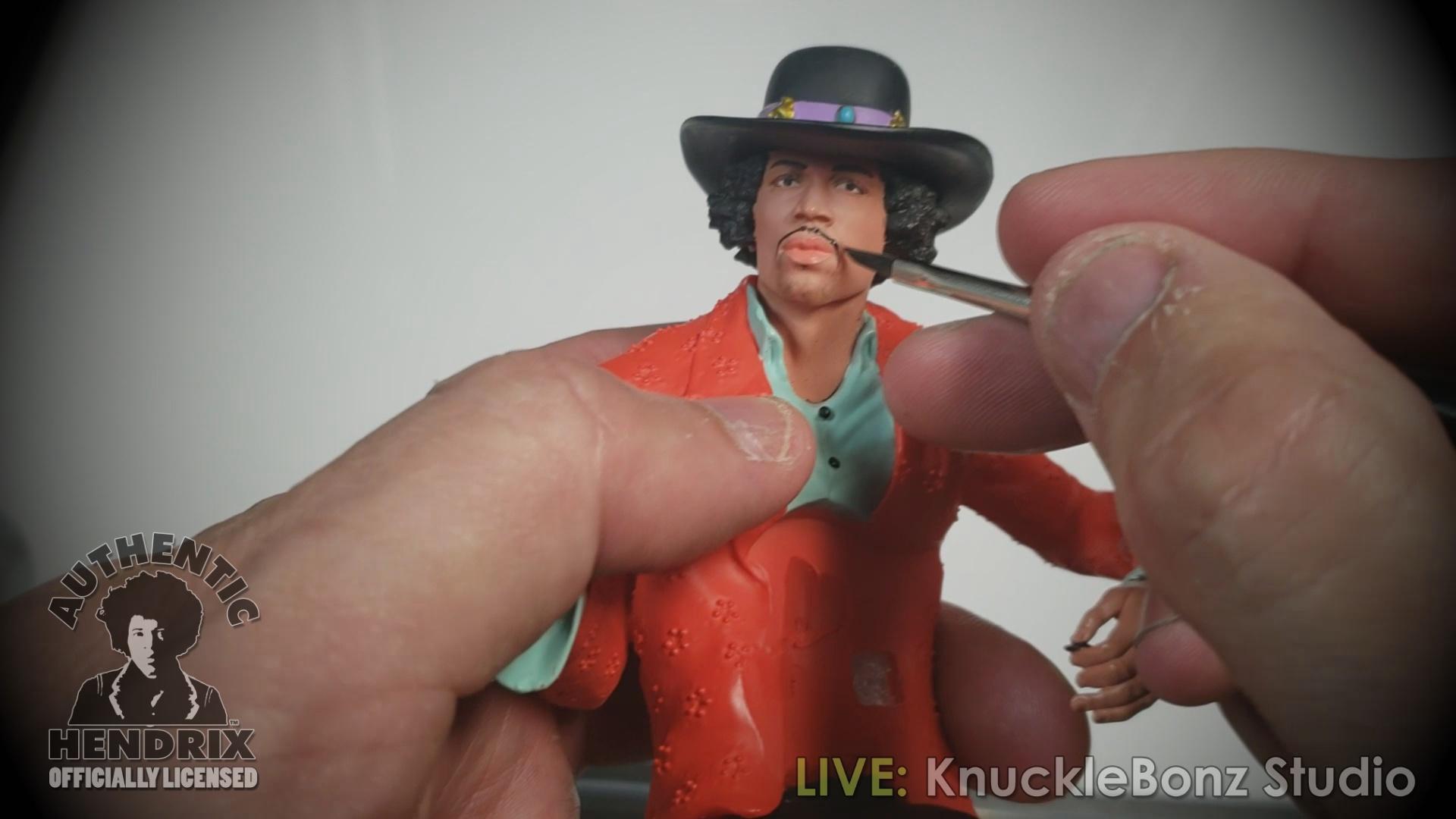 Jimi Hendrix 2 Rock Iconz Statue