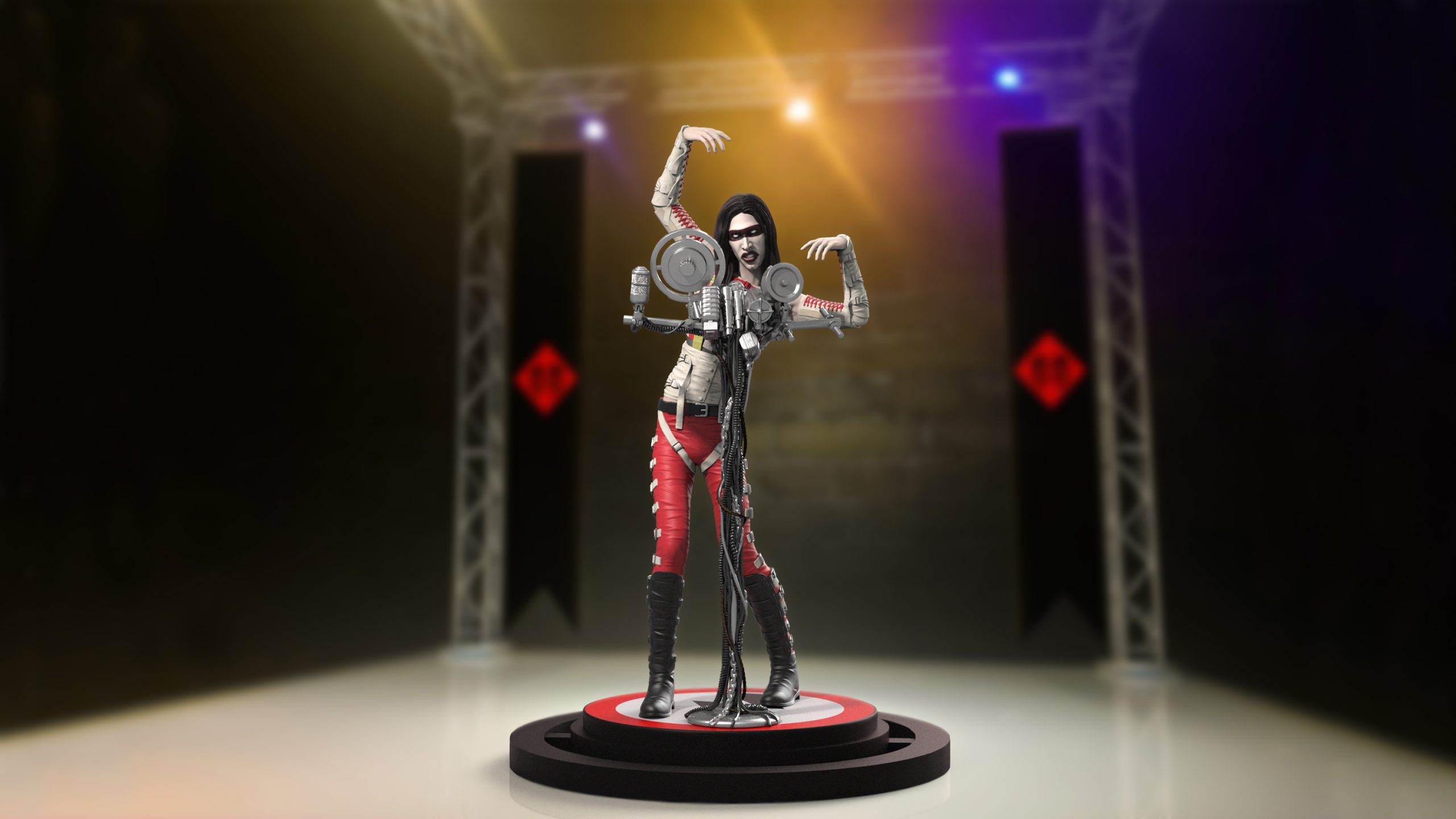 The Marilyn Manson Rock Iconz Limited Edition statue from KnuckleBonz.