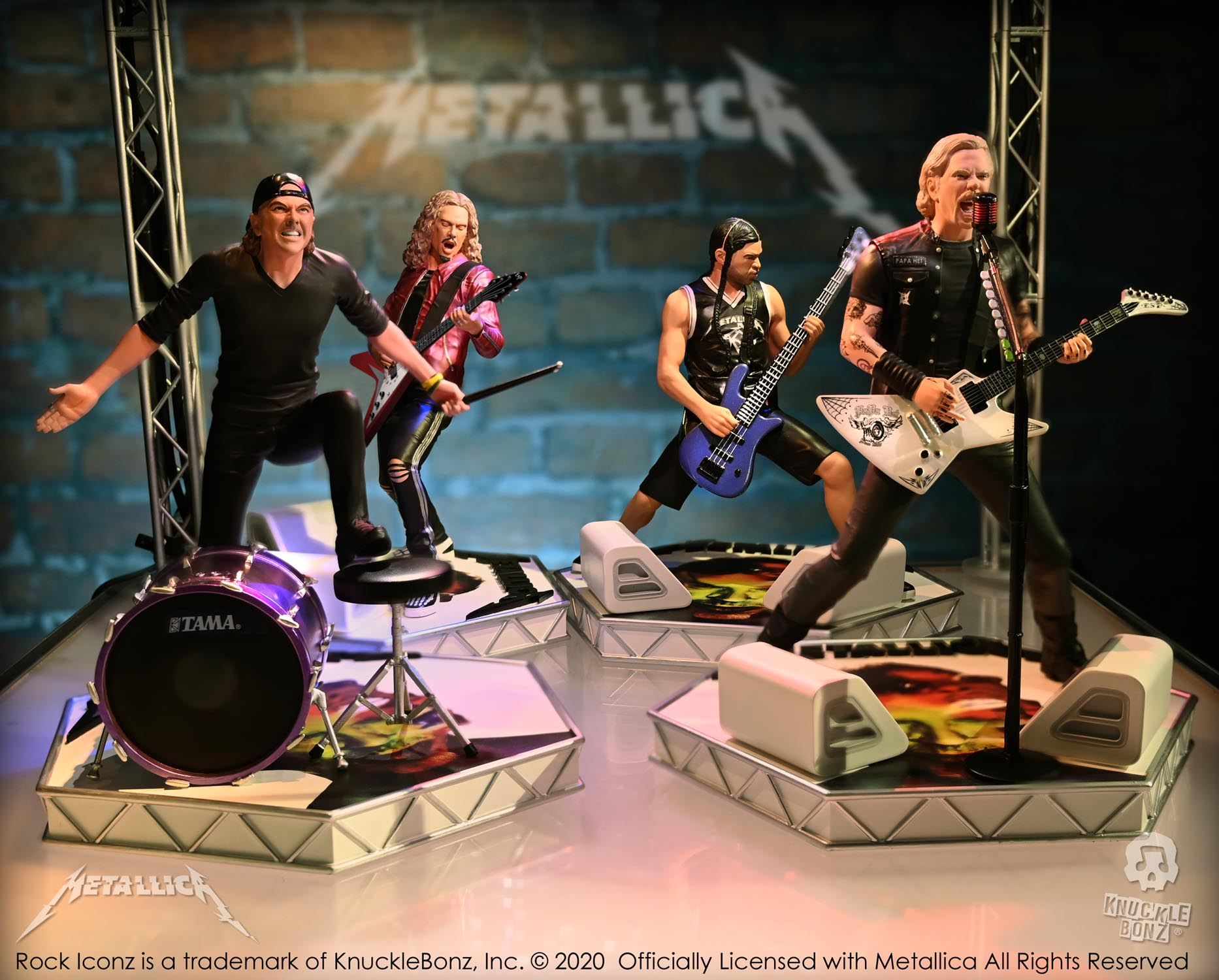 The Metallica Rock Iconz Collectible Statues