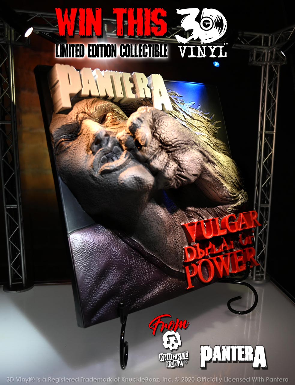 "KnuckleBonz and Pantera Labor Day Giveaway - ""Vulgar Display of Power 3D Vinyl"""